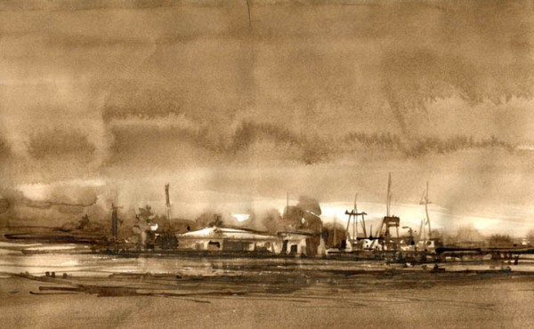 "Boat Yard Greenport 13X8"""