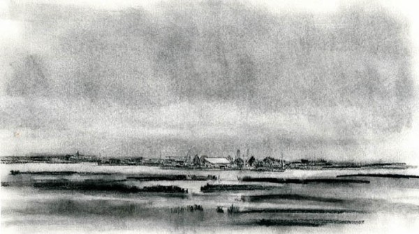 Flanders Bay Charcoal 12X8""